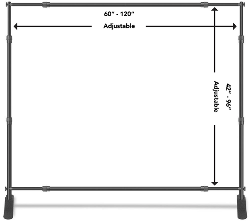 8' X 10' TELESCOPIC BACKDROP (STAND ONLY!)